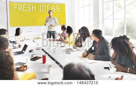 Fresh Ideas Creativity Design Innovation Concept