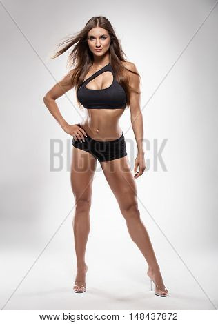 Nice Sexy Fitness Woman Posing Perfect Body