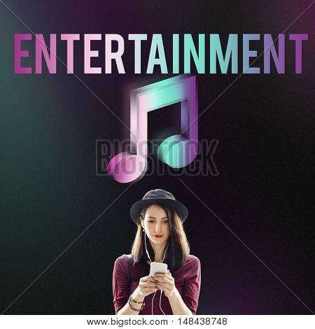 Digital Music Streaming Multimedia Entertainment Online Concept