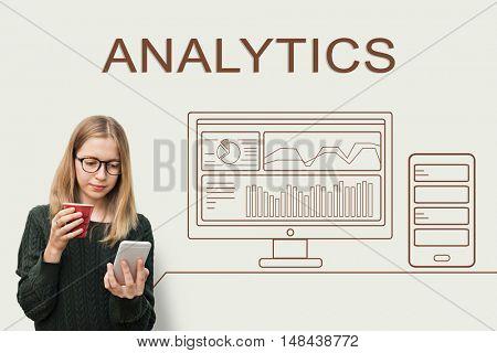 Analytics Progress Summary Computer Concept