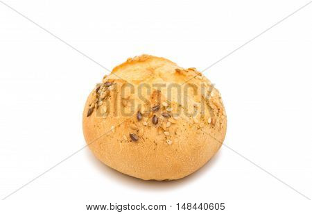 French bread rolls isolated on white background
