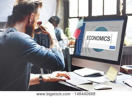 Economics Analytics Strategy Solution Business Concept