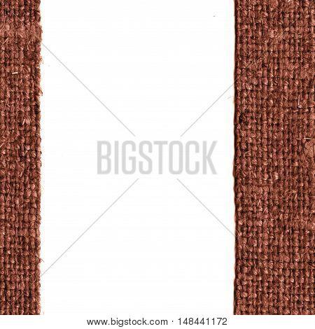 Textile tarpaulin, fabric burlap, brown canvas, full material retro-styled background