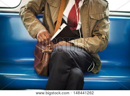 Commuter Train Transportation Urban Metro Concept