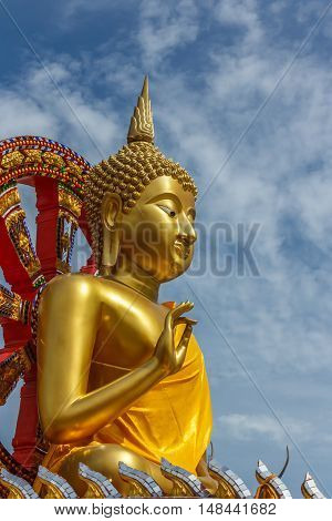 The Buddha statue from temple in Thailand