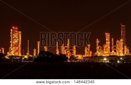 The Photo powerhouse by night dark beautiful on industrial area.