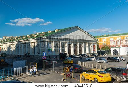 Moscow, Russia -May 14.2016. A view of the Manege from the Moss Street
