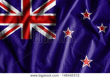 Waving flag of New Zeland - background flag