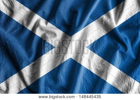 Waving flag of Scotland - background flag