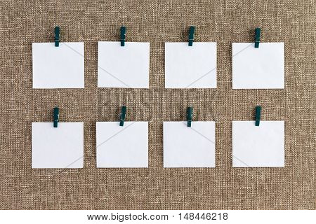 Precisely Aligned Rows Of Blank Memo Pads