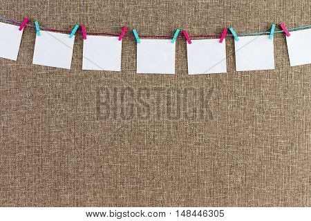 Long String With Blank Sheets Attached