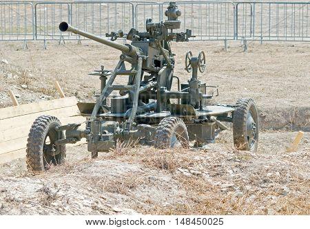 The old antiaircraft gun from World Second War
