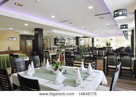 modern style restaurant indoor at hotel