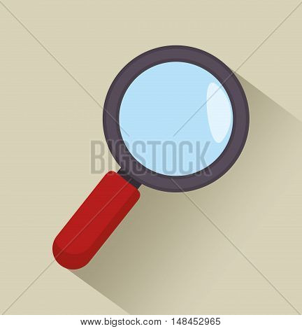 news search icon graphic isolated vector illustration