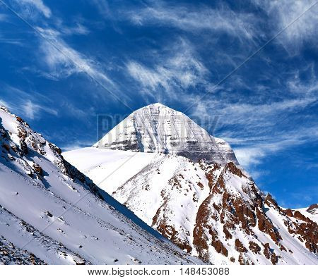 Sacred Mount Kailash (elevation 6638 M), Which Are Part Of The Transhimalaya In Tibet.