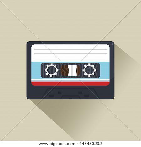 cassette news record graphic vector illustration eps 10