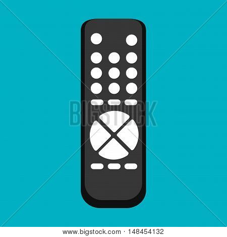 icon control tv black buttons graphic vector illustration eps 10