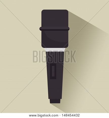 microphone tv news graphic isolated vector illustration eps 10