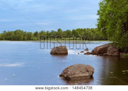 Stones In Calm Water