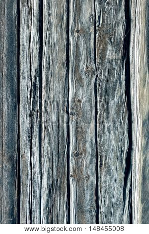 Grey grunge wooden planking as background vertical