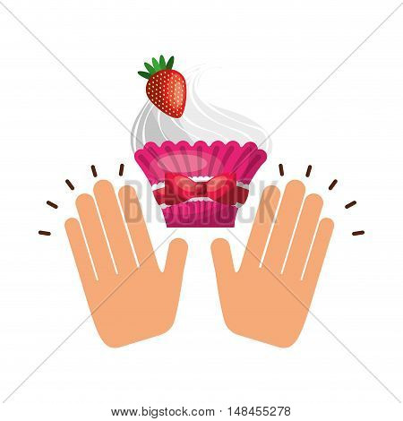 delicious baked goods hand made vector illustration design