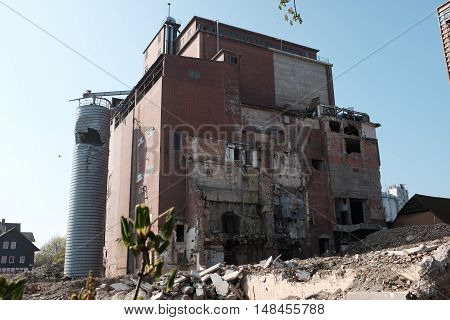 Demolition of a dilapidated, old industrial plant