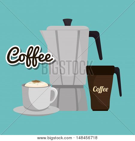 maker coffee cup fresh and hot graphic vector illustration eps 10