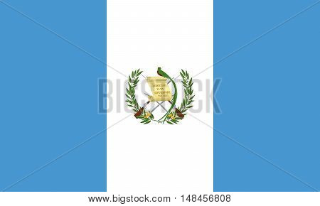 Illustration of the national flag of Guatemala
