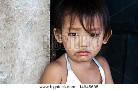 Poverty in Asia - girl portrait