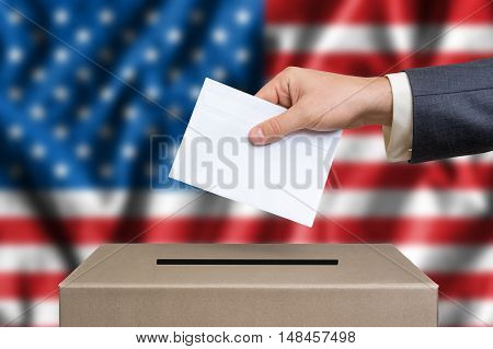 Election In United States Of America - Voting At The Ballot Box