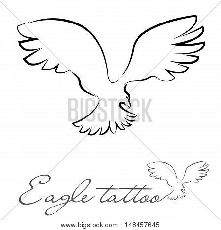 silhouette of an eagle for tattoo logo
