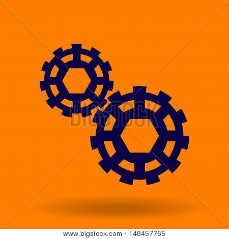 Abstract gears on the background. Icons gear.
