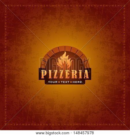 Vector template for a pizzeria menu design