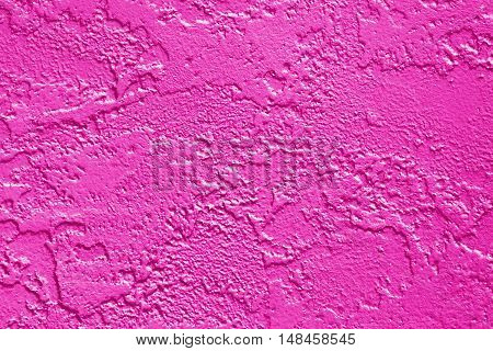 Abstract fuchsia wall texture painted hot pink and magenta for background