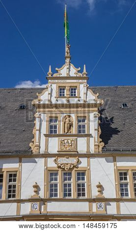 Decorated Facade Of The Neuhaus Castle In Paderborn