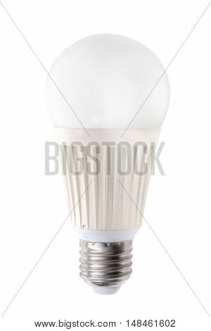 White led bulb isolated on white with clipping path