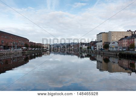 View of the River Lee from St. Patrick's Quay in Cork