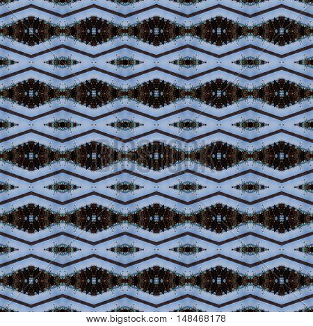 Beautiful computer generated light blue striped shaped lines pattern wallpaper