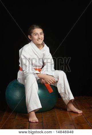 Karate fitness girl