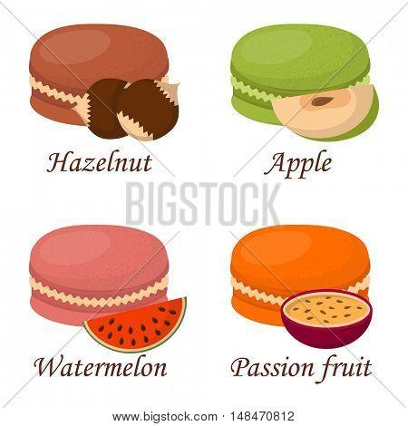 Macaroon cake vector illustration