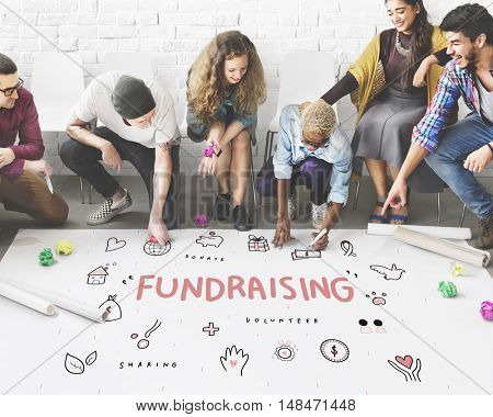 Fundraising Donations Charity Foundation Support Concept