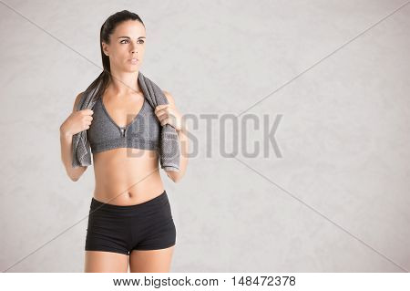 Woman Resting After Workout