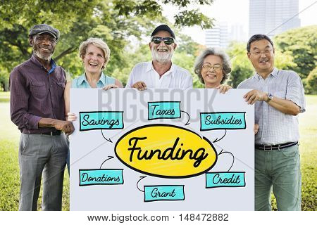Funding Grant Donation Diagram Concept