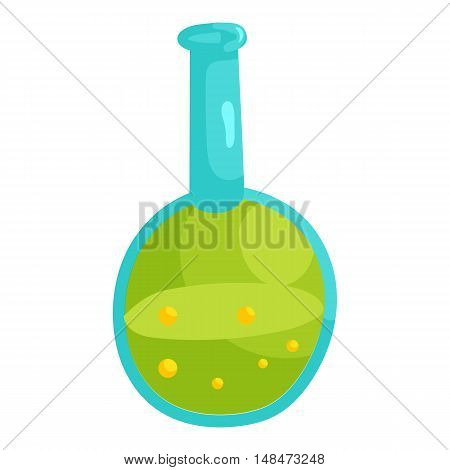 Laboratory glassware icon in cartoon style isolated on white background vector illustration