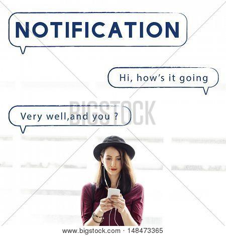 Social Network Speech Bubble Text Graphic Concept