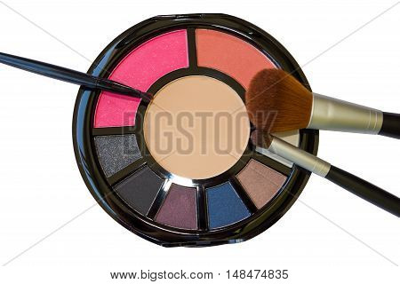Palette For Make-up And Brushes