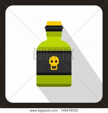 Poison bottle icon in flat style on a white background vector illustration