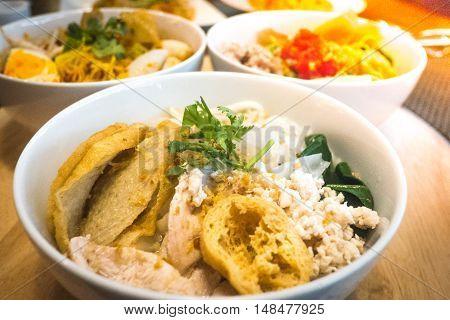 Delicious Yen Ta Four Noodle, Thailand Noodle Style Call Yen-ta-fo.