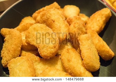 Chicken Nuggets Served In Pan