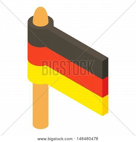 Flag of Germany icon in cartoon style isolated on white background. State symbol vector illustration
